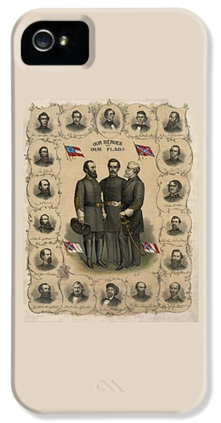 Confederate Generals Of The Civil War IPhone 5 Case by War Is Hell Store