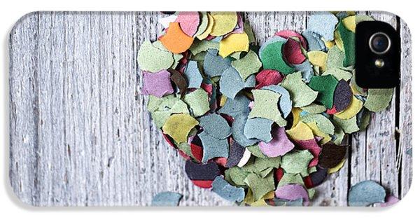 Confetti Heart IPhone 5 Case by Nailia Schwarz
