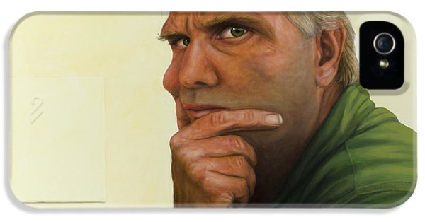 Contemplating The Blank Page IPhone 5 Case by James W Johnson