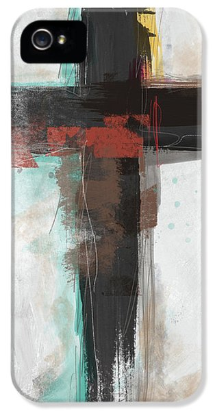 Cross iPhone 5 Case - Contemporary Cross 1- Art By Linda Woods by Linda Woods