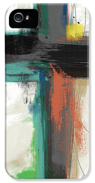 Cross iPhone 5 Case - Contemporary Cross 2- Art By Linda Woods by Linda Woods