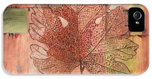 Contemporary Grape Leaf IPhone 5 Case by Debbie DeWitt