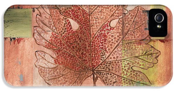 Contemporary Grape Leaf IPhone 5 Case by Debbie DeWitt