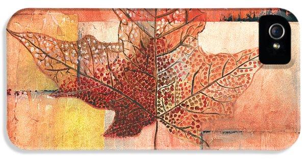Contemporary Leaf 2 IPhone 5 Case by Debbie DeWitt