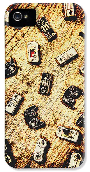 Controllers Of Retro Gaming IPhone 5 Case by Jorgo Photography - Wall Art Gallery