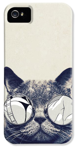 Cool Cat IPhone 5 Case by Vitor Costa