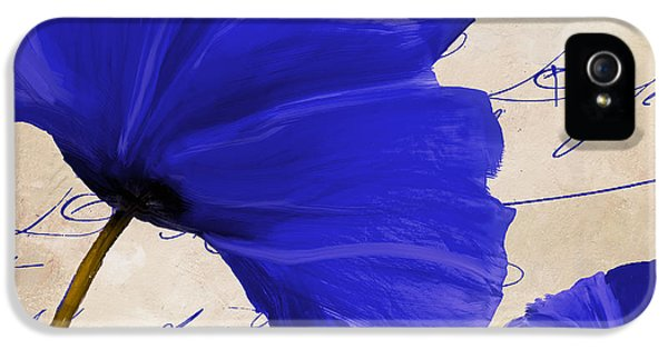 Coquelicots Bleue II IPhone 5 Case by Mindy Sommers