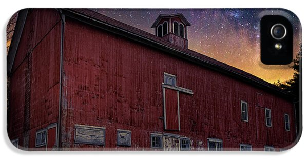 IPhone 5 Case featuring the photograph Cosmic Barn Square by Bill Wakeley