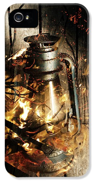 Cosy Open Fire. Cottage Artwork IPhone 5 Case by Jorgo Photography - Wall Art Gallery