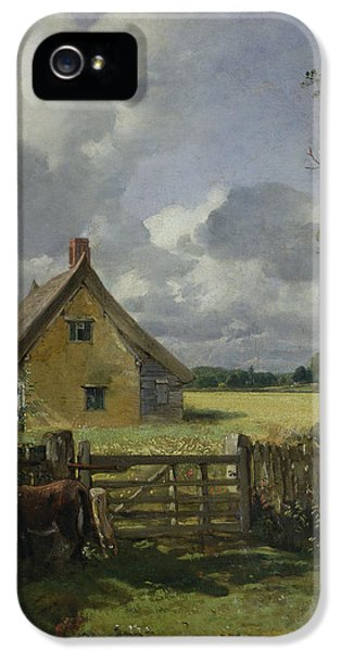 Cottage In A Cornfield IPhone 5 Case by John Constable