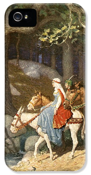 Country Folk Wending Their Way To The Tourney IPhone 5 Case by Newell Convers Wyeth