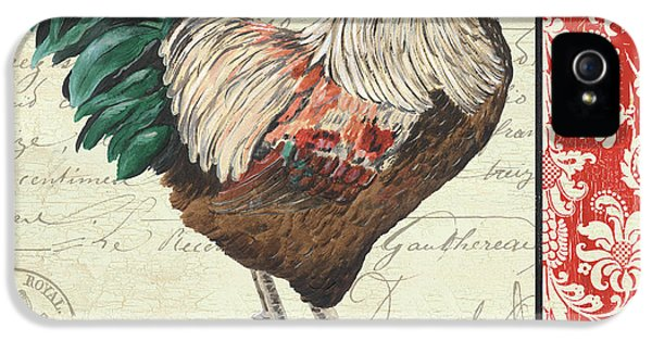 Country Rooster 1 IPhone 5 Case by Debbie DeWitt