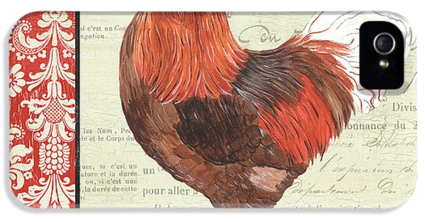 Country Rooster 2 IPhone 5 Case by Debbie DeWitt