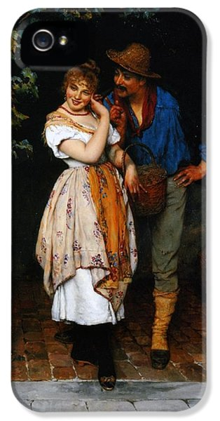 Couple Courting IPhone 5 / 5s Case by Eugen von Blaas
