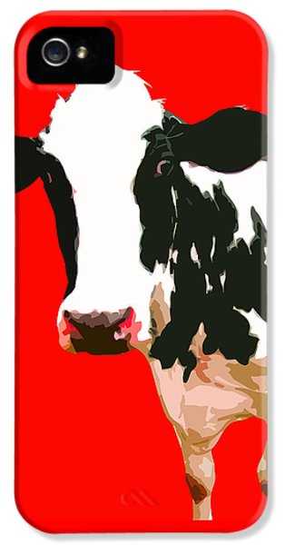 Cow iPhone 5 Case - Cow In Red World by Peter Oconor