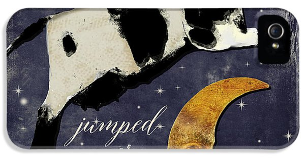 Cow iPhone 5 Case - Cow Jumped Over The Moon by Mindy Sommers