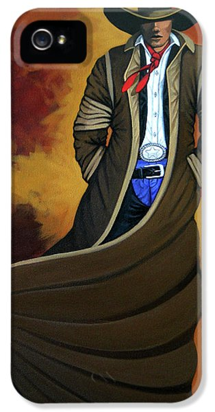 Cowboy Dust IPhone 5 Case by Lance Headlee