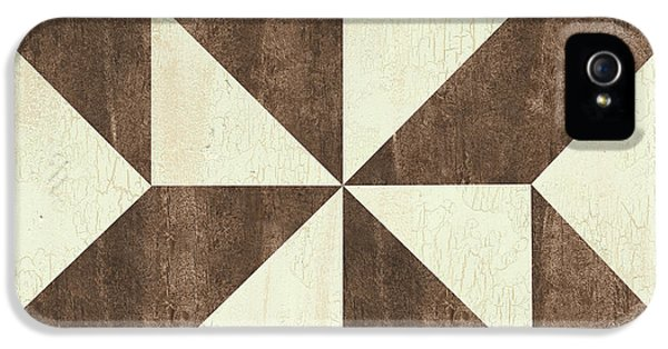 Cream And Brown Quilt IPhone 5 Case
