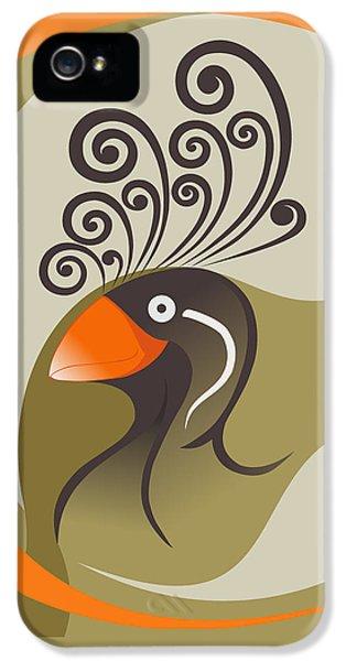 crestedAUKLET IPhone 5 Case by Mariabelones ART