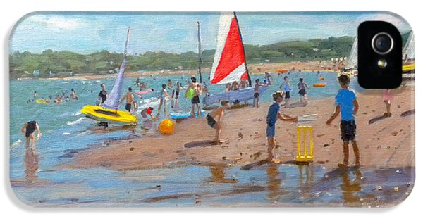 Cricket iPhone 5 Case - Cricket And Red And White Sail by Andrew Macara