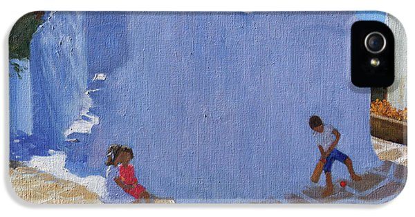 Cricket iPhone 5 Case - Cricket By The Church Wall, Mykonos  by Andrew Macara