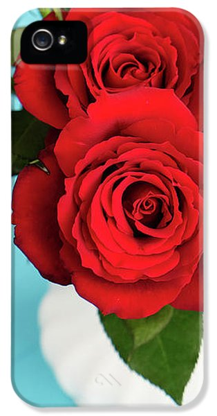 Crimson Roses IPhone 5 Case by Happy Home Artistry