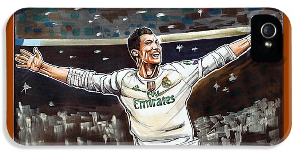 Cristiano Ronaldo Of Real Madrid IPhone 5 / 5s Case by Dave Olsen