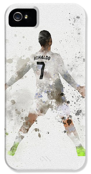 Cristiano Ronaldo IPhone 5 Case by Rebecca Jenkins