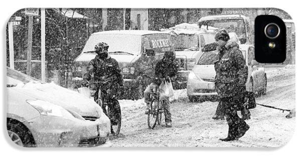 Crosswalk In Snow IPhone 5 Case
