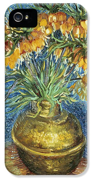 Crown Imperial Fritillaries In A Copper Vase IPhone 5 Case by Vincent Van Gogh