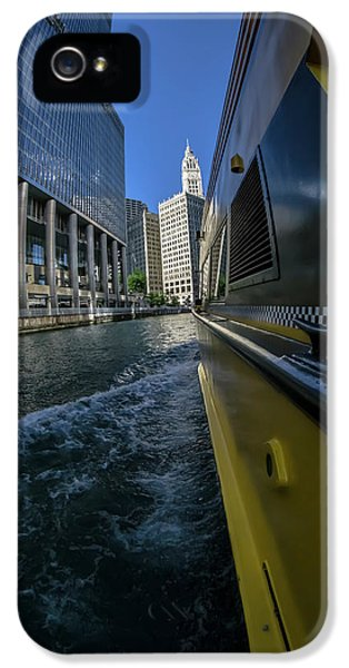 Cruising By Trump Tower And The Wrigely Building In Chicago IPhone 5 Case
