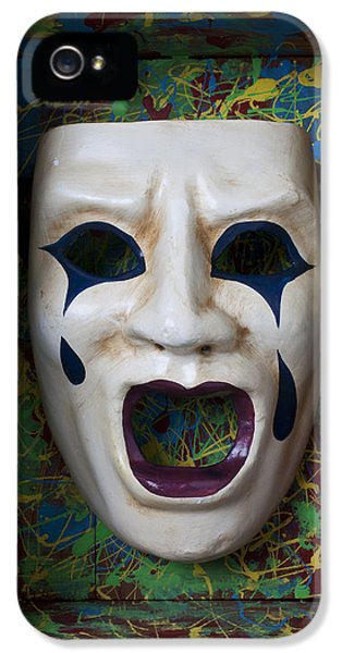 Crying Mask In Box IPhone 5 Case by Garry Gay