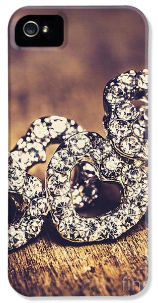 Crystal Heart Earrings IPhone 5 Case by Jorgo Photography - Wall Art Gallery