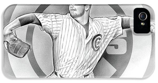 Cubs 2016 IPhone 5 Case by Greg Joens