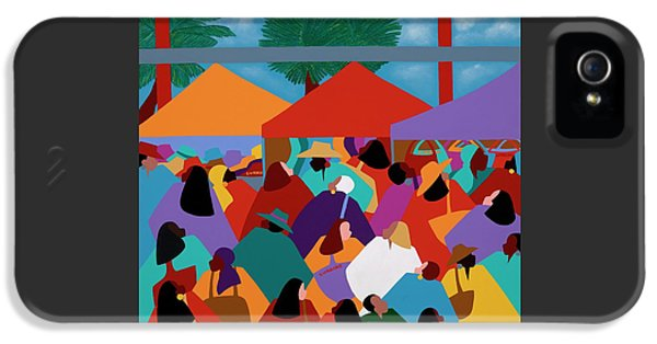 iPhone 5 Case - Curacao Market by Synthia SAINT JAMES