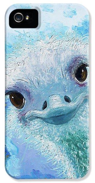 Curious Ostrich IPhone 5 Case by Jan Matson