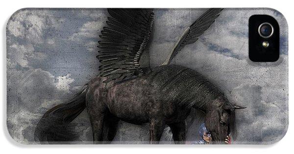 Pegasus iPhone 5 Case - Custom Knapp 322 by Betsy Knapp