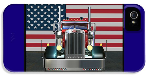 Truck iPhone 5 Case - Custom Peterbilt 2 by Stuart Swartz