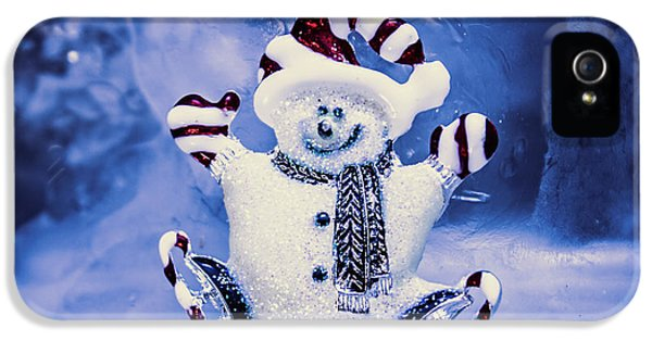 Cute Snowman In Ice Skates IPhone 5 Case by Jorgo Photography - Wall Art Gallery