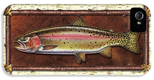 Cutthroat Trout Lodge IPhone 5 / 5s Case by JQ Licensing