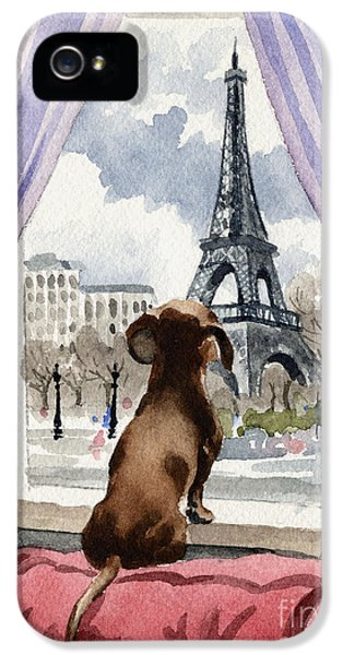 Dachshund In Paris IPhone 5 Case