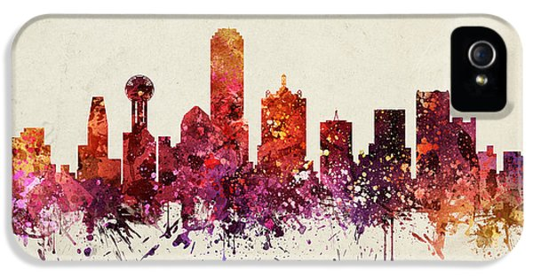 Dallas Cityscape 09 IPhone 5 / 5s Case by Aged Pixel