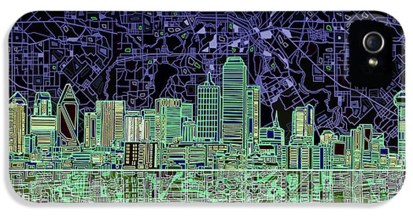 Dallas Skyline Abstract 4 IPhone 5 Case