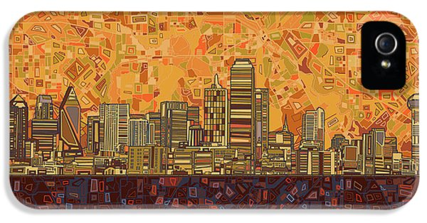 Dallas Skyline Abstract IPhone 5 Case