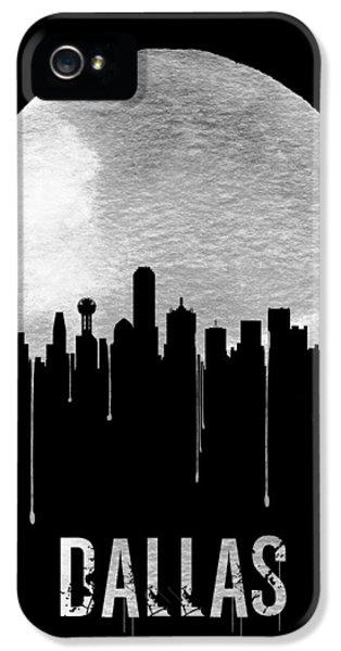 Moon iPhone 5 Case - Dallas Skyline Black by Naxart Studio