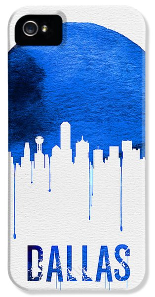 Dallas Skyline Blue IPhone 5 / 5s Case by Naxart Studio