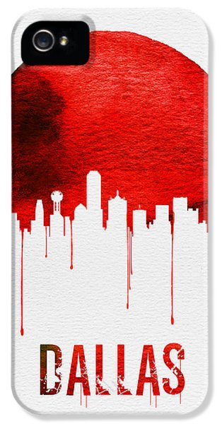 Dallas Skyline Red IPhone 5 Case by Naxart Studio