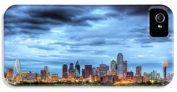 Dallas Skyline IPhone 5 Case by Shawn Everhart