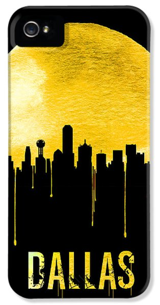 Dallas Skyline Yellow IPhone 5 / 5s Case by Naxart Studio