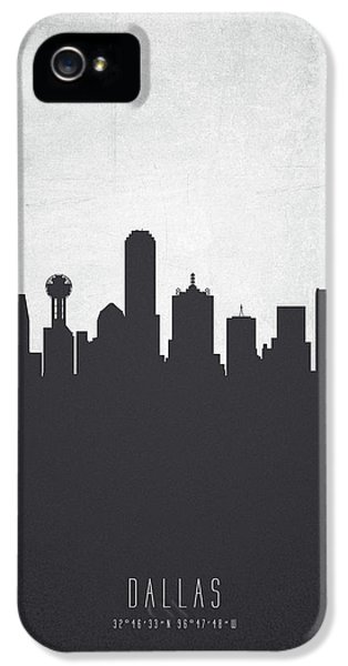 Dallas Texas Cityscape 19 IPhone 5 Case by Aged Pixel